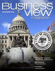November 2016 Issue cover of Business View Magazine.