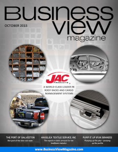 October 2015 Issue cover of Business View Magazine.