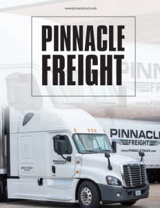 Pinnacle Freight brochure cover.