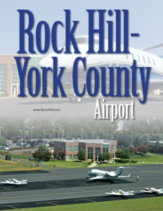 Rock Hill-York County Airport brochure cover.