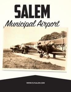 Salem Municipal Airport brochure cover.