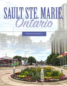 Sault Ste. Marie, Ontario brochure cover.