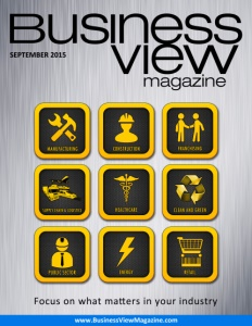 September 2015 Issue cover of Business View Magazine.