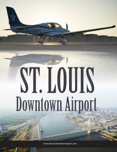 St. Louis Downtown Airport brochure cover.
