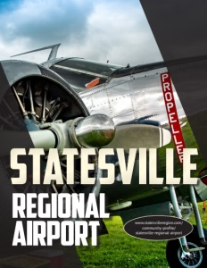 Statesville Regional Airport brochure cover.