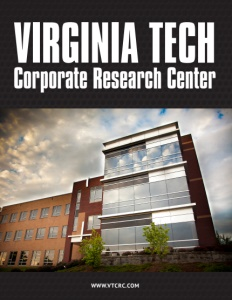 Virginia Tech Corporate Research Center brochure cover.