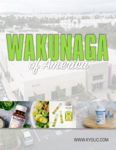 Wakunaga of America brochure cover.
