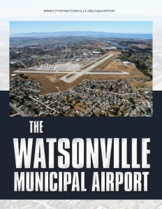 The Watsonville Municipal Airport brochure cover.