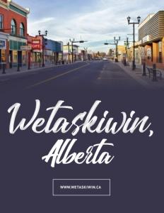 Wetaskiwin, Alberta brochure cover.