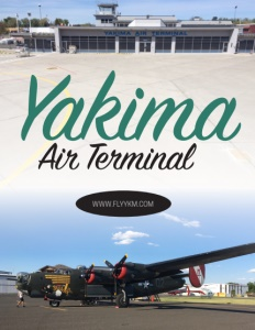Yakima Air Terminal brochure cover.
