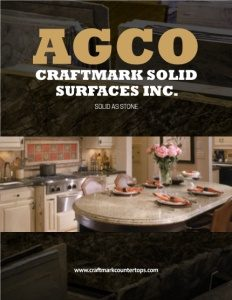 AGCO Inc./Craftmark Solid Surfaces Inc. brochure cover.