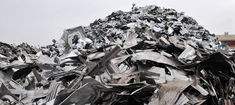 Alco Iron & Metal Company mound of scrap metal.