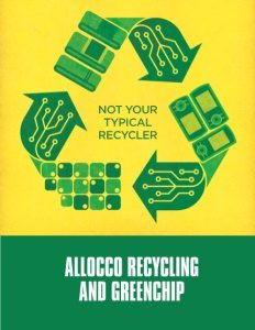 Allocco Recycling and GreenChip brochure cover.