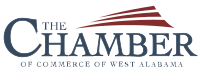 Chamber of Commerce of West Alabama logo.