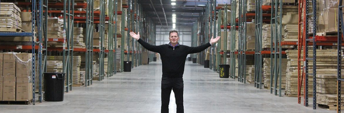 COE Distributing JD in the warehouse.