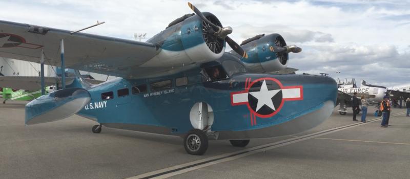 Deer Park Municipal Airport U.S. Navy Plane.