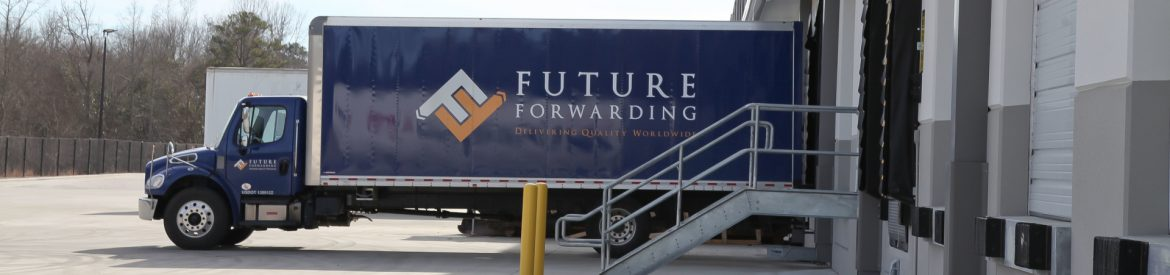 Future Forwarding truck at a loading dock.