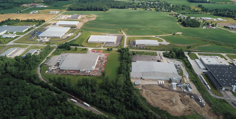 Grow Ashland | Ashland County, Ohio Business Park aerial view.