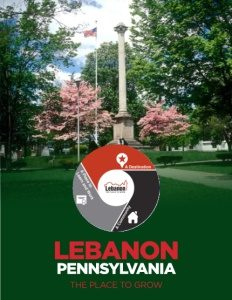 Lebanon, Pennsylvania brochure cover.