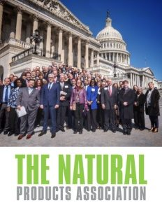 The Natural Products Association brochure cover.