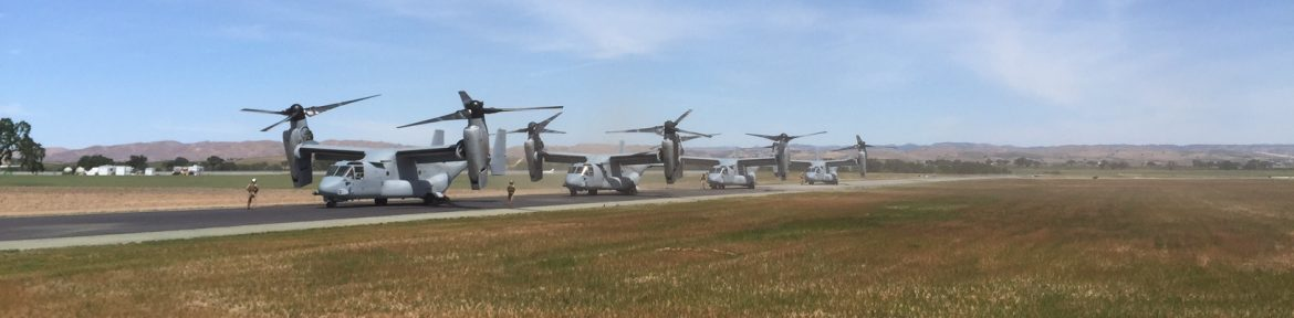 Paso Robles Municipal Airport Osprey Lineup.