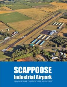 Scappoose Industrial Airpark brochure cover.