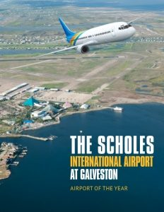 The Scholes International Airport at Galveston brochure cover.