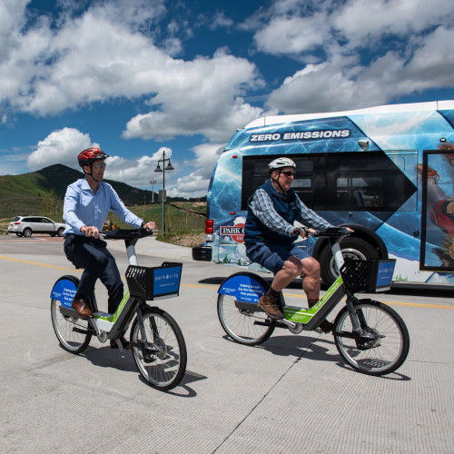 Summit County, Utah E-Bike Riders and the E-Bus
