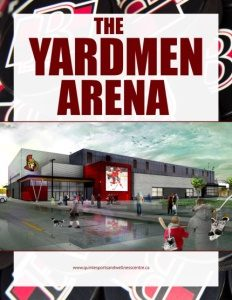Yardmen Arena Brochure Cover.