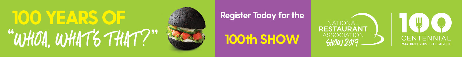 National Restaurant Association banner ad for 100th show.
