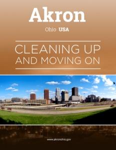 Akron Ohio brochure cover.