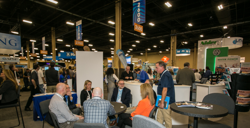 Expo photo from the Association of Pool & Spa Professionals.