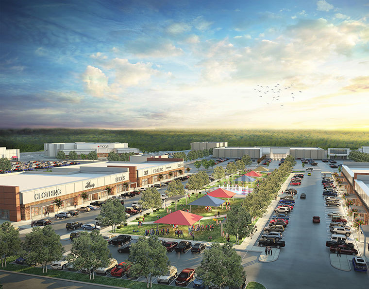 Proposed San Jacinto Marketplace Rendering for Baytown, Texas.