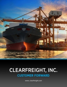 ClearFreight, Inc. brochure cover.