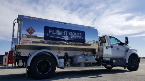 Columbus Airport Flightways service vehicle.