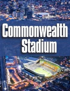 Commonwealth Stadium brochure cover.