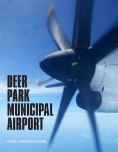 The Deer Park Municipal Airport brochure cover.