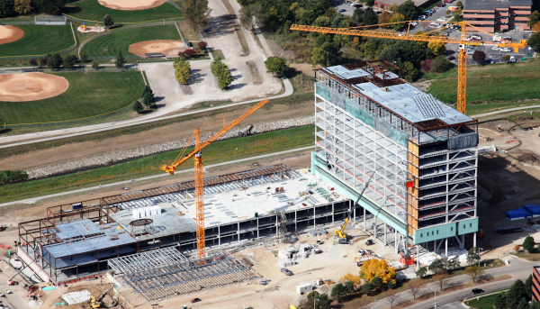 Drake-Williams Steel Inc. aerial photo of their work on the TD Ameritrade Headquarters.