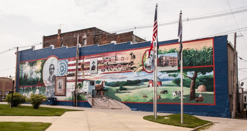 Veterans Park Mural in Frankfort Indiana.