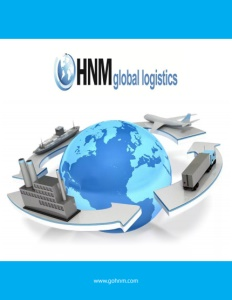HNM Global Logistics brochure cover.