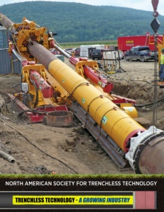 North American Society for Trenchless Technology brochure cover.