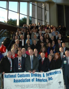 The National Customs Brokers & Forwarders Association of America brochure cover. NCBFAA.