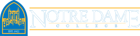 Notre Dame College logo.