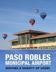 Paso Robles Municipal Airport brochure cover.