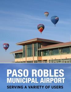 Paso Robles Municipal Airport brochure cover.
