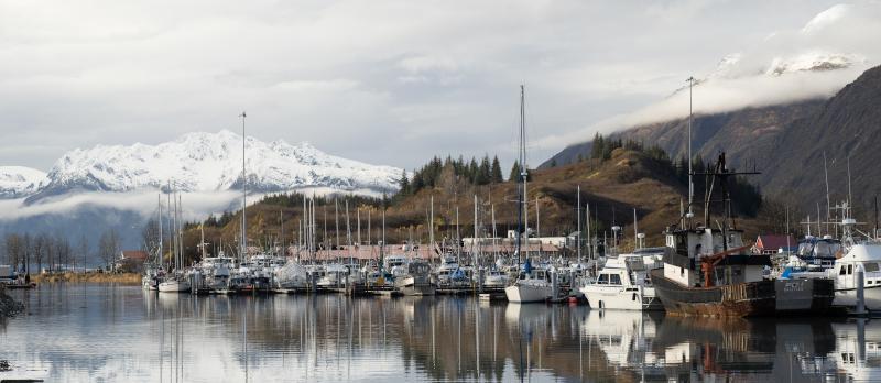 Port of Valdez boats at dock.