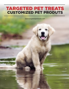 Targeted Pet Treats brochure cover.