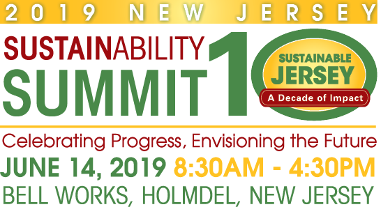 New Jersey Sustainability Summit ad and 10th year anniversary celebration