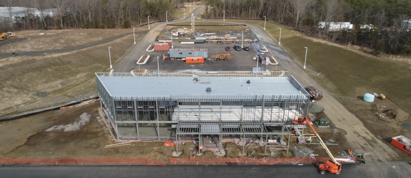 The Warrenton-Fauquier Airport Terminal Building under Construction