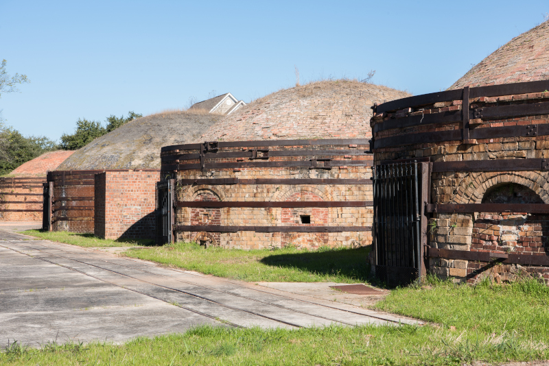 Cayce, South Carolina Historic Brick Kilns.